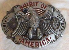 New Vtg. Harley Davidson Belt Buckle  Raintree - Spirit Of America