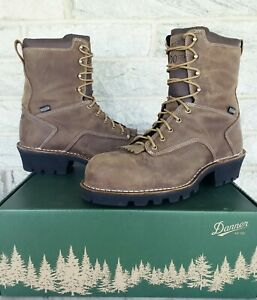 """Danner Mens Logger 8"""" Composite Toe Insulated WP Work Boots Size 12  $240 15437"""