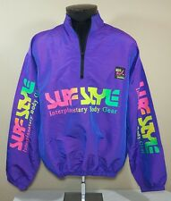 VTG Surf Style Windbreaker Jacket Iridescent Colorblock 90's Ski Coat 80's Large
