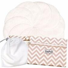 Reusable Nursing Pad Set - 10 x Bamboo Pads, 2 Pocket Wet Bag & Laundry Bag