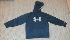 Under Armour Storm boys black hoodie with gray logo size Youth Medium