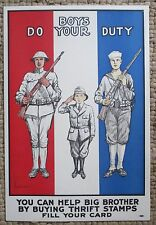 "VINTAGE W W 1 POSTER: 'BOYS DO YOUR DUTY..."" BY WESTERMAN / PATRIOTIC POSTER"
