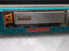 """Albedo 800024 Lkw MAN  Pritschen-Sattelschlepper """" Continental """" 1:87 mit OVP"""