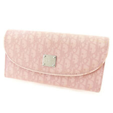 Dior Wallet Purse Long Wallet Trotter Pink Woman Authentic Used T2461