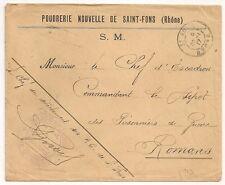 POUDRERIE DE SAINT FONS Rhone PRISONNIERS DE GUERRE 14 18 pour ROMANS Drome. 923