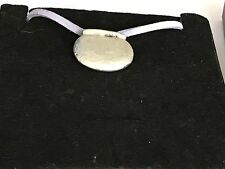 """Couldron With Pot TG12 English Pewter On 18"""" Purple Cord Necklace"""