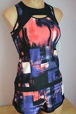 NWT Calvin Klein Swimsuit Bikini Tankini 2 piece Set Shorts Sz M Muy Black