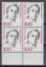 BRD 1988 postfrisch 4er Block mit Unterrand MiNr. 1390  Therese Giehse