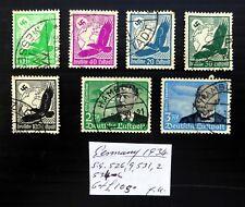 ALLEMAGNE 1934 AIRMAILS comme décrit Fine/utilisé Cat £ 105 NC324