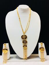 Indian Bollywood Style Necklace Set Pakistani Style Wedding Gold Plated Long New
