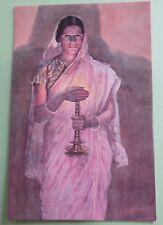 Vintage GLOW OF HOPES By S.L. haldenkar picture postcard a portrait of Lady