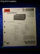 Sony Service Manual TA H6800N Amplifier  (#1384)