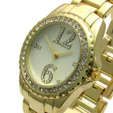 Henley Ladies Diamante Watch – Gold-tone with Champagne Face – Gift Boxed #432