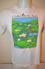 I Golfed Myrtle Beach You Are Here Golf Map Funny Indie USA VTG 80s M/L T-Shirt