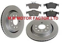 VAUXHALL SIGNUM (02-) 2.8 V6 3.0 3.2 CDTi REAR VENTED BRAKE DISCS and PADS SET