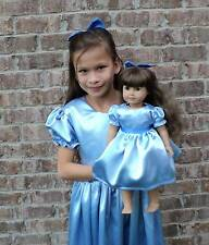 Handmade Elegant Peter Pan Wendy Satin Costume 2PC Dress Set Sz S/M/L