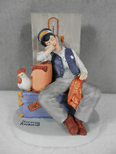 Norman Rockwell / Danbury Mint, Handcrafted Bisque Porcelain, Asleep On The Job