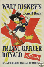 Truant officer Donald Disney cartoon movie poster print