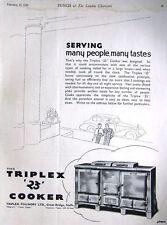 Art Deco 1939 TRIPLEX '23' Aga-Type Cooker Range ADVERT - Vintage Print AD