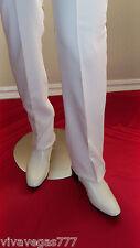 New ELVIS (WHITE) STRAIGHT LEG Pants (Tribute Artist Costume) Pre Jumpsuit Era