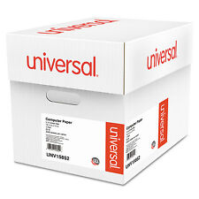 UNIVERSAL Green Bar Computer Paper 20lb 14-7/8 x 11 Perforated Margins 2400