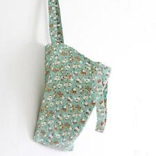 1x Canvas Shopping Handbag Shoulder Tote Reusable Eco Messenger Bag Small Flower