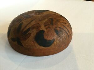 Vintage Carved Bowl - Women - Child -Palm Tree - Camel  5 3/4""