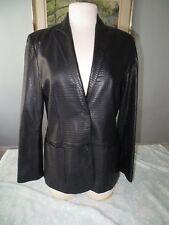 Ralph Lauren Polo Alligator Crocodile Embossed Leather Jacket Blazer Coat Medium