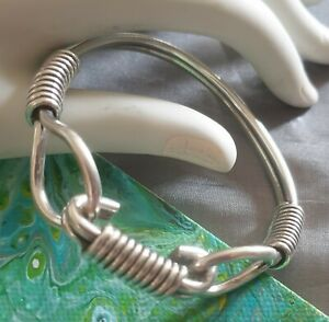Sterling Silver 925 Solid Heavy Thick Unsex Bangle 57.7grams.