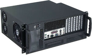 """4U (Front Access) (24"""" Rail)(2x5.25""""+ 6x3.5""""Bay)(Rackmount Chassis)(14"""" Case)NEW"""