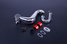 Alloy silencer exhaust pipe with metal clamp red for Hpi Baja 5B 5T 5SC