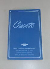 Owner's Manual / Betriebsanleitung Chevrolet Chevette Stand 1985