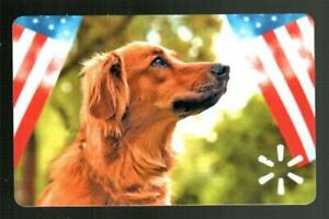WALMART Dog and American Flags 2021 Gift Card ( $0 )