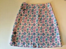 "Lilly Pulitzer A-Line Skirt Floral With ""Lilly"" Ladies Size 6"