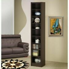 Coaster 9 Adjustable Shelf Narrow Bookcase in Cappuccino 800285