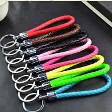 Unisex PU Dynamic Rope Pendant Key Ring Metal Chains Bag Car Accessories Gifts