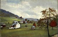 Zaunhaus Rehefeld Sachsen Color Ansichtskarte ~1910 Blick auf Schloß Rehefeld