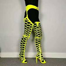 Oversized Sexy Nightclub Stiletto Heels Women's Boots Belt Over Knee