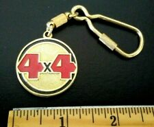 4 X 4 OFF ROAD AUTO CAR AUTOMOTIVE LOGO GOLD TONE METAL KEYRING