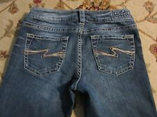 SILVER AIKO BOOT CUT LOW RISE JEANS SIZE 27