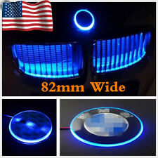 82mm Ultra Blue Emblem LED Background Light For BMW 1 3 5 7 Series X3 X5 X6