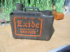 VINTAGE Antique EXIDE Sure Start Car Battery Gas STATION GARAGE SERVICE Tool Box