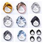 Ladies twist knot pattern headband elastic head wrap turban hair band sports