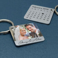 Personalised Photo Keyring Custom Keychain Picture Key Ring Anniversary Gift