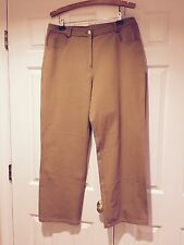 St.John Yellow Label 5 Pocket stretch cotton Jeans, Tan Color, Size 14
