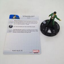 Heroclix Uncanny X-Men set Scrambler #015 Common figure w/card!