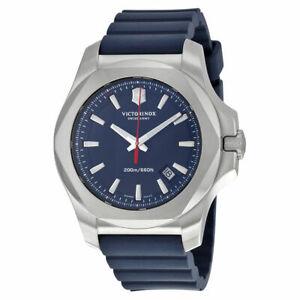 Victorinox Swiss Army Inox Blue Dial Blue Rubber Mens Watch 241688.1- Stunning!