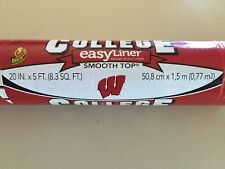Duck Brand College easy liner shelf liner 2 rolls Wisconsin Badgers new