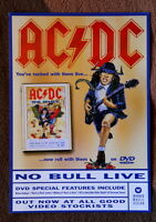 AC/DC original UK NO BULL LIVE flyer promo dvd hard rock ANGUS nice!