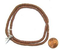 Kenya Copper Heishi Beads 4mm African 30 - 32cm Handmade